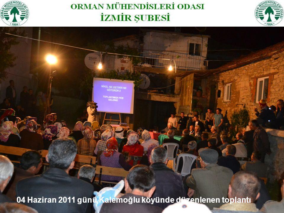 04 Haziran 2011 günü Kalemoğlu köyünde düzenlenen toplantı