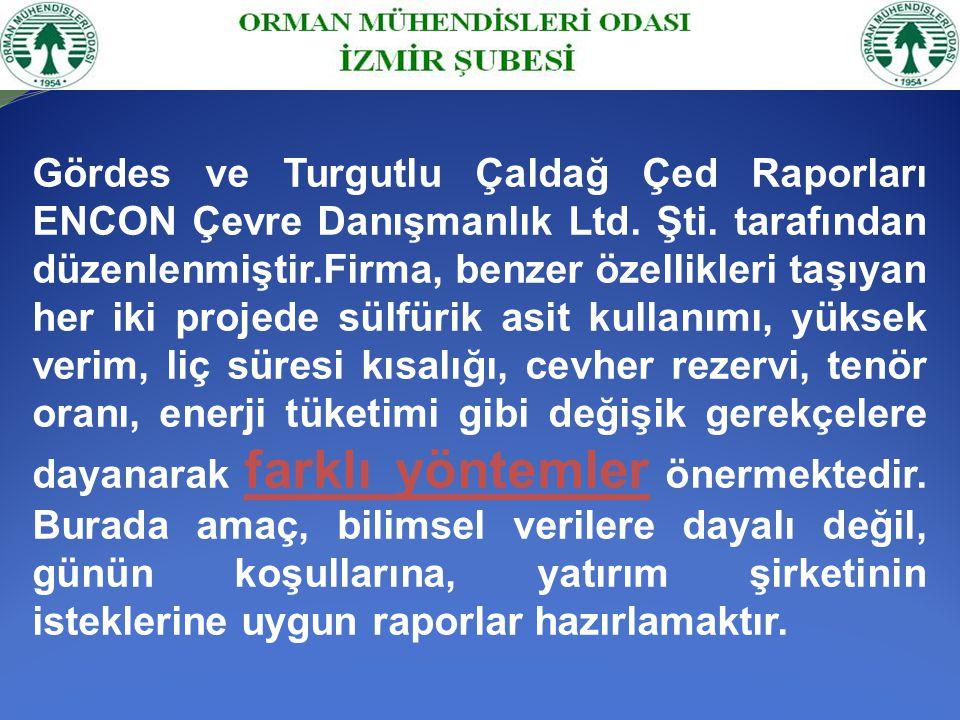 Tesiste üretim sırasında kullanılacak 20 kadar kimyasalın, asit yağmurlarının, asit kaya drenajının yer altı sularını kirletmesi, yakın çevredeki küçük yerleşim birimleri ile Akhisar, Gördes ve Sındırgı İlçelerinin, daha da önemlisi Gördes Barajından bu yıl su verilmeye başlanması ile İzmir'in içme suları ciddi bir tehlike altında kalacaktır