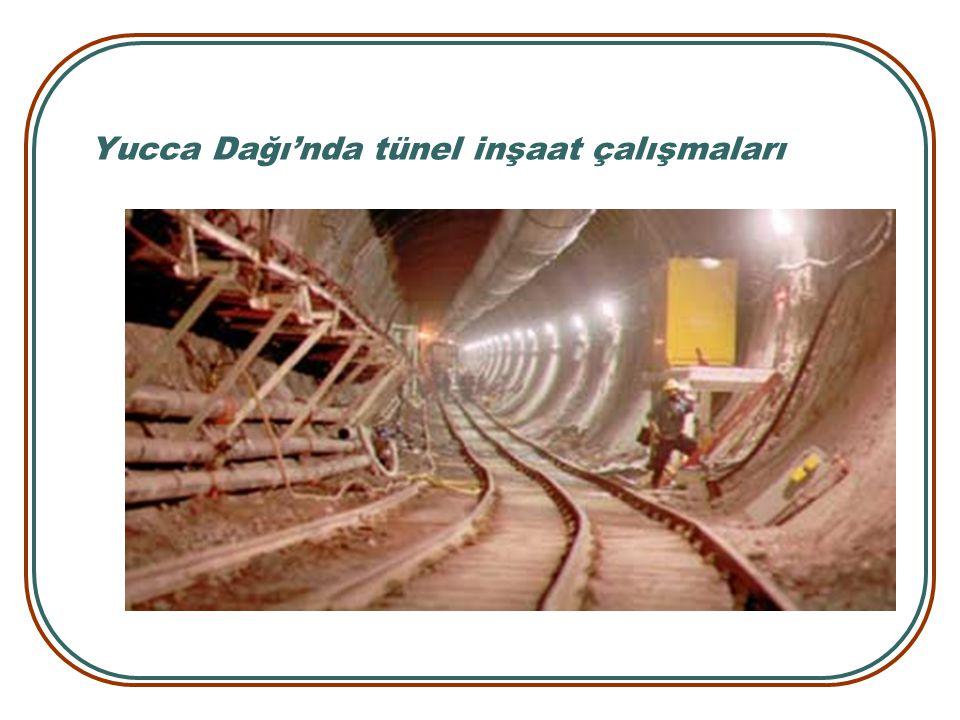Yucca Dağı'nda tünel inşaat çalışmaları