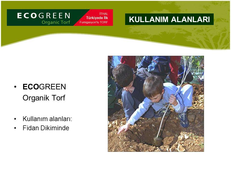 ECOGREEN Organik Torf Kullanım alanları: Fidan Dikiminde KULLANIM ALANLARI