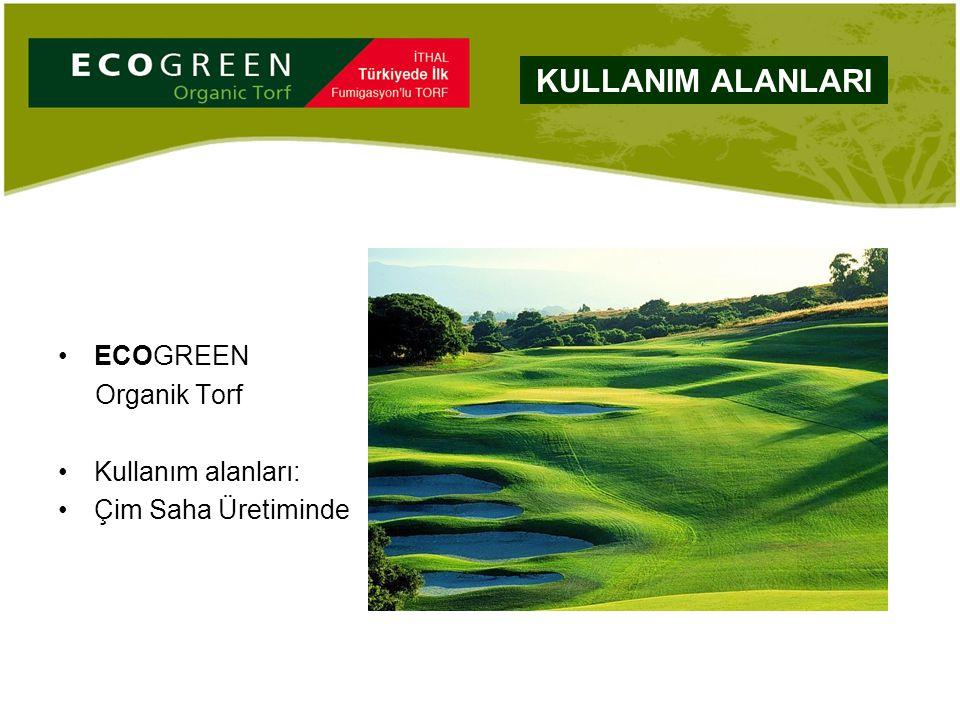 ECOGREEN Organik Torf Kullanım alanları: Çim Saha Üretiminde KULLANIM ALANLARI
