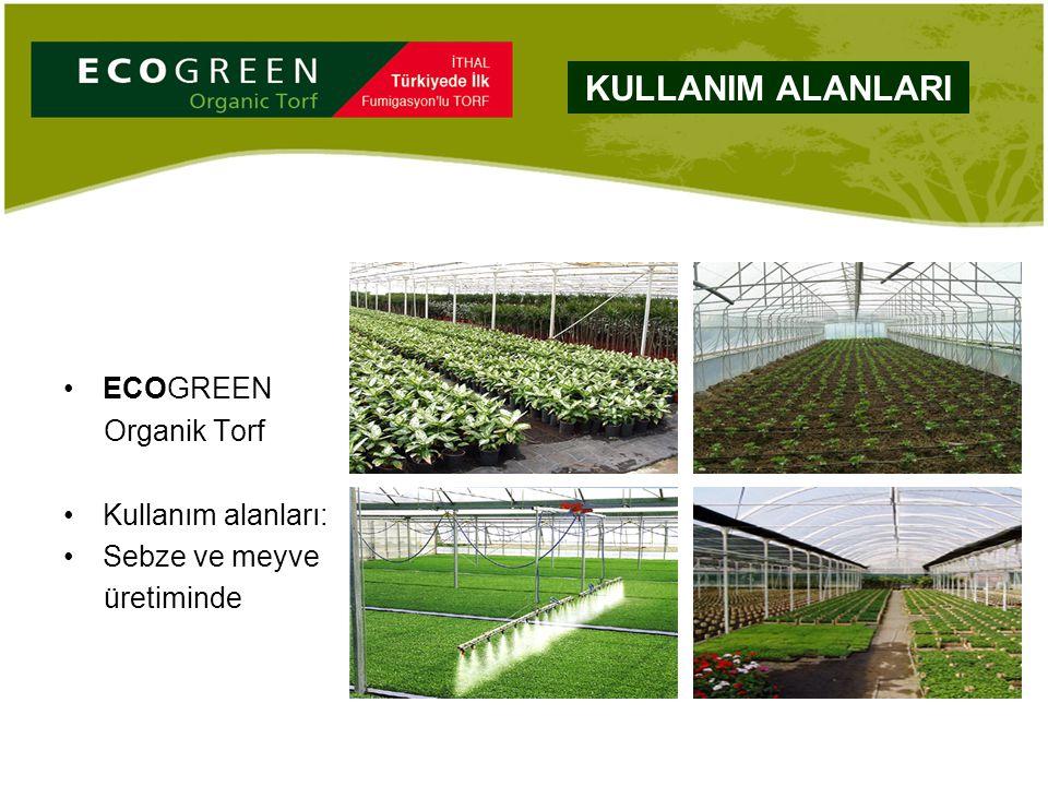 ECOGREEN Organik Torf Kullanım alanları: Sebze ve meyve üretiminde KULLANIM ALANLARI