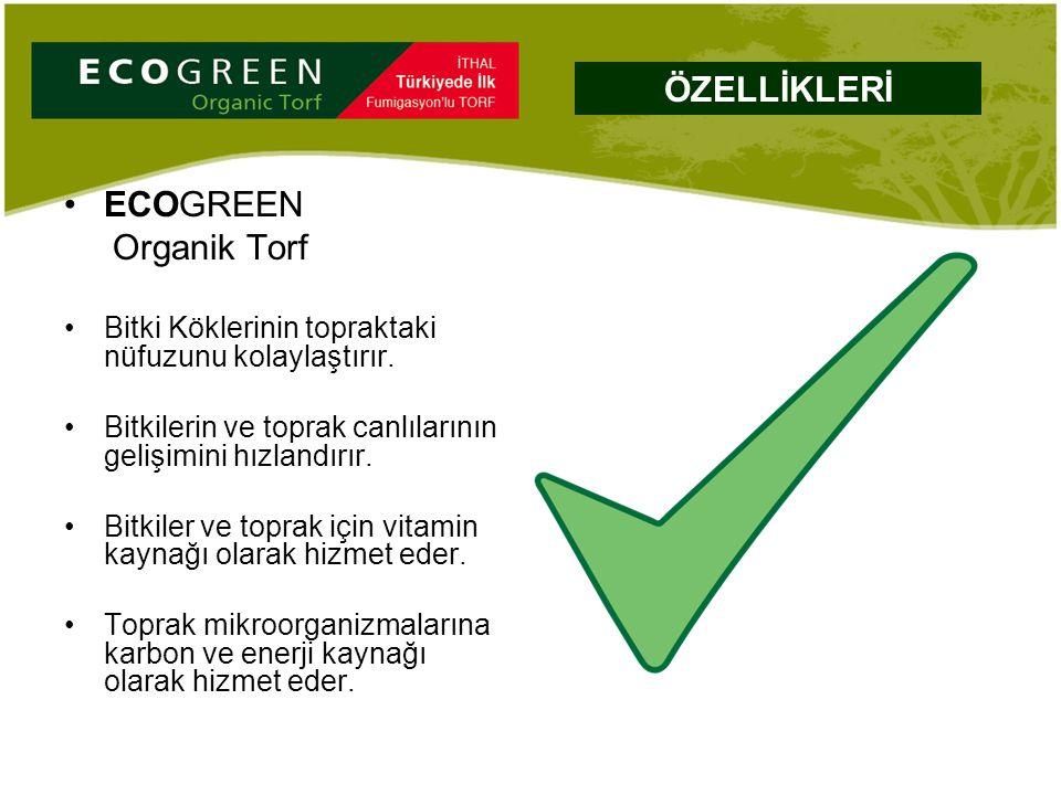 ECOGREEN Organik Torf Bitki Köklerinin topraktaki nüfuzunu kolaylaştırır. Bitkilerin ve toprak canlılarının gelişimini hızlandırır. Bitkiler ve toprak