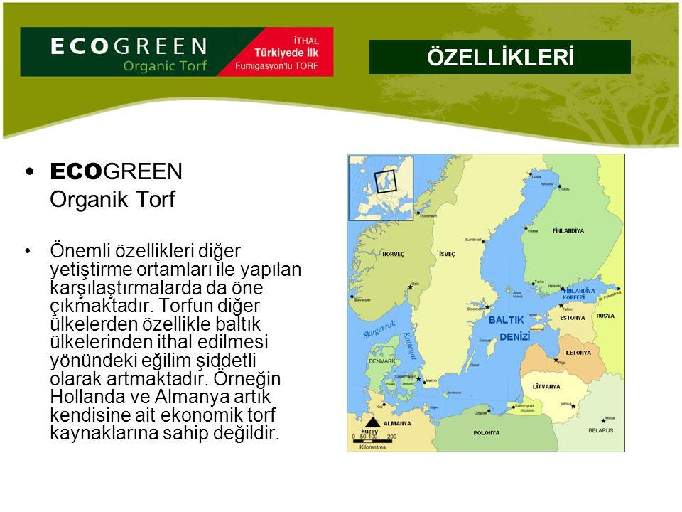 ECO GREEN Organik Torf Önemli özellikleri diğer yetiştirme ortamları ile yapılan karşılaştırmalarda da öne çıkmaktadır. Torfun diğer ülkelerden özelli