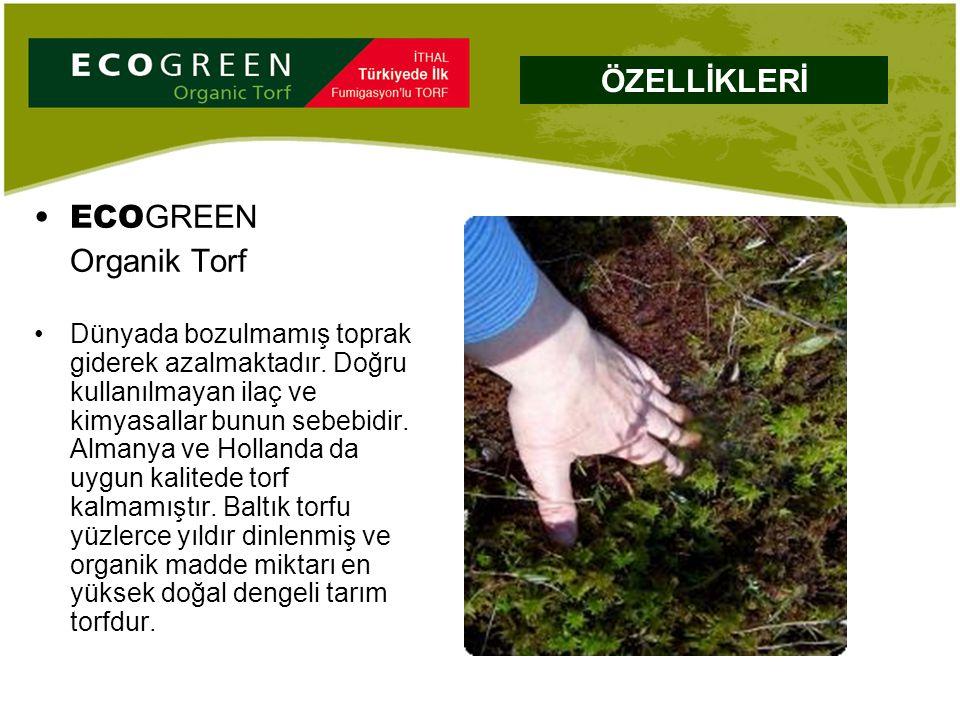 ECO GREEN Organik Torf Dünyada bozulmamış toprak giderek azalmaktadır. Doğru kullanılmayan ilaç ve kimyasallar bunun sebebidir. Almanya ve Hollanda da