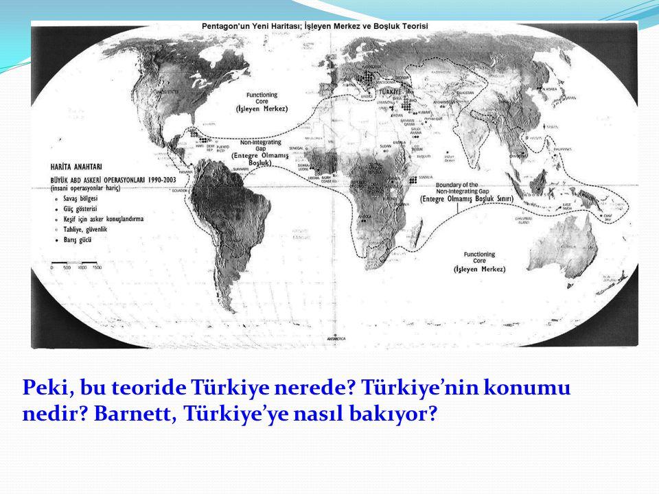 Peki, bu teoride Türkiye nerede? Türkiye'nin konumu nedir? Barnett, Türkiye'ye nasıl bakıyor?