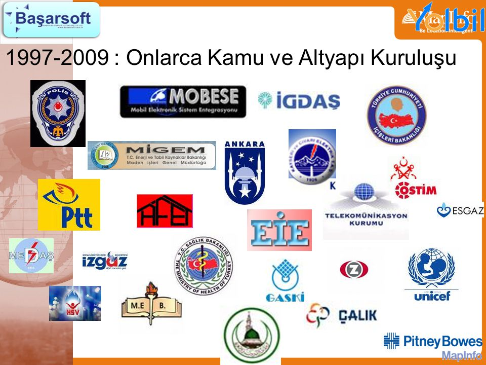 1997-2009 : Onlarca Kamu ve Altyapı Kuruluşu