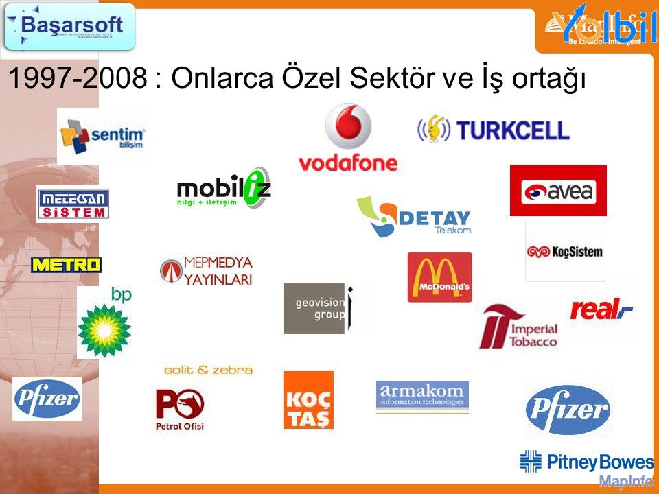 1997-2008 : Onlarca Özel Sektör ve İş ortağı