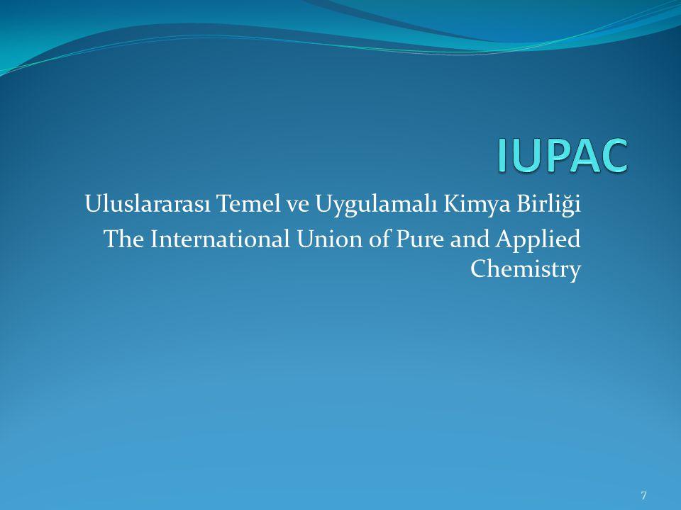 ALKANLARIN ADLANDIRILMASI Alkanların adlandırılması iki farklı şekilde olur: IUPAC Sistemine Göre Adlandırma (Sistematik Adlandırma) Özel Adlandırma 8