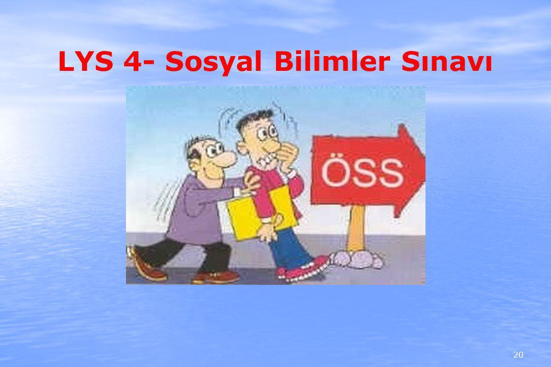 LYS 4- Sosyal Bilimler Sınavı 20