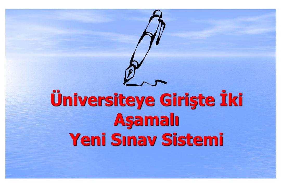 2010-ÖSYS Sunum, İstanbul 29 Ağustos 2009  Adayların Sosyal Bilimler, Fen Bilimleri gibi ders grupları başarısı yerine Tarih, Coğrafya,Felsefe Grubu, Fizik, Kimya, Biyoloji gibi ders başarılarını ölçmek.