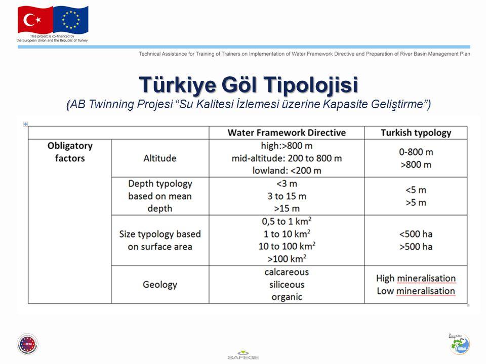 Türkiye Göl Tipolojisi ( Türkiye Göl Tipolojisi (AB Twinning Projesi Su Kalitesi İzlemesi üzerine Kapasite Geliştirme )