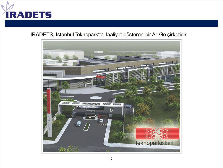 IRADETS, İstanbul Teknopark ' ta faaliyet gösteren bir Ar-Ge şirketidir. 2