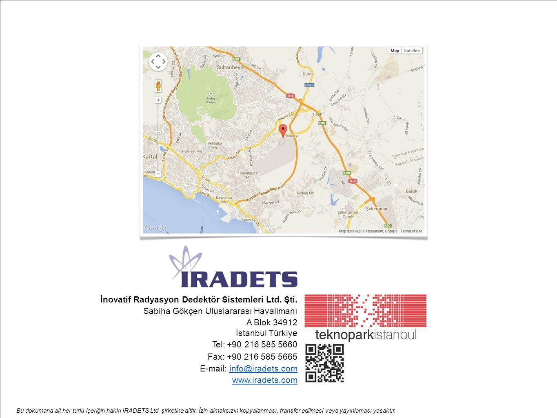 Bu dokümana ait her türlü içeriğin hakkı IRADETS Ltd. şirketine aittir. İzin almaksızın kopyalanması, transfer edilmesi veya yayınlaması yasaktır. İno