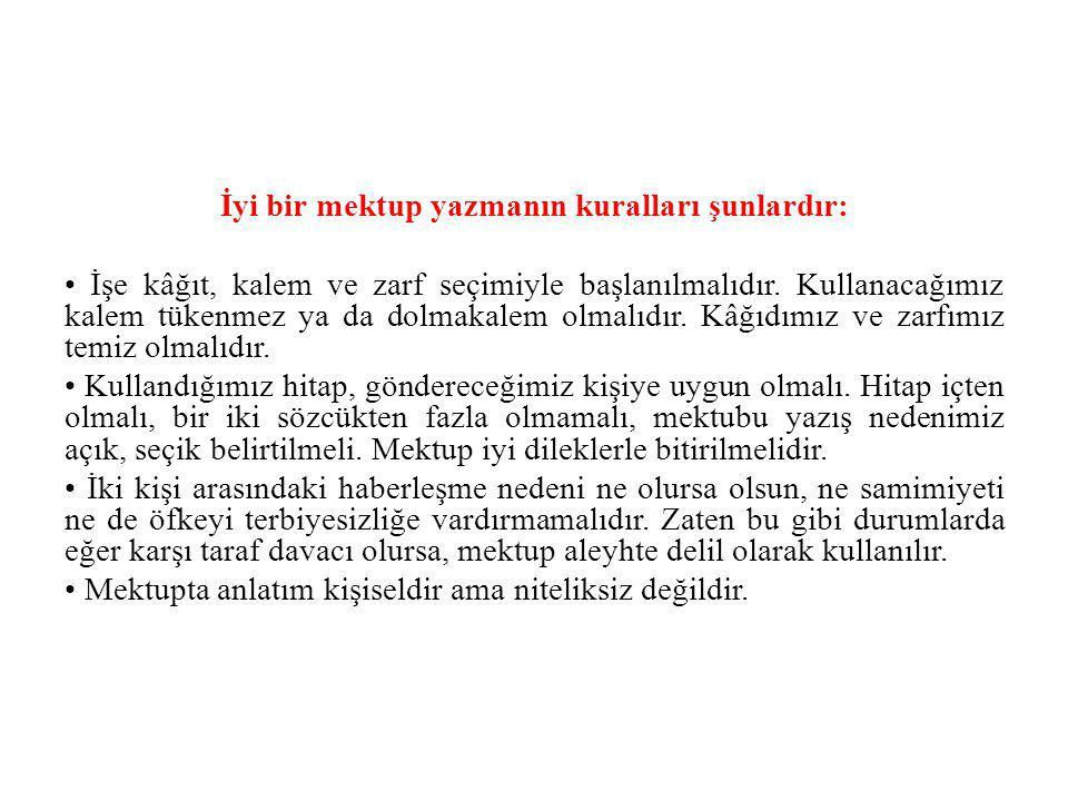 Mektup Örneği Ankara, 2 Kasım 1958 Kardeşim Hamdi, İki gündür Yahya Kemal in ölümünün derin hüznü içindeyim.