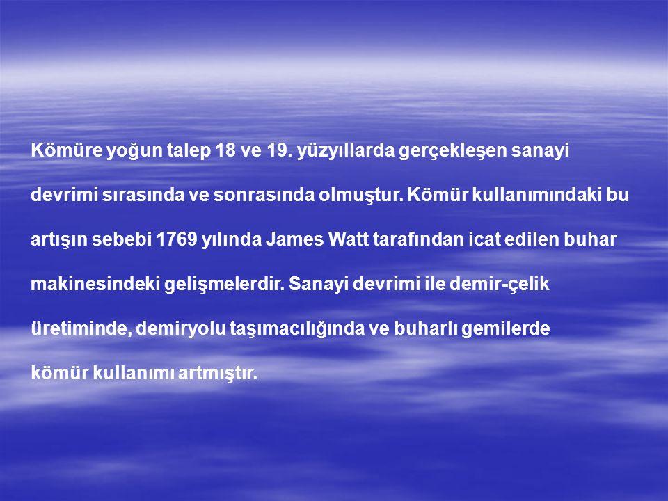 TÜRKİYE 'NİN BİLİNEN KÖMÜR HAVZALARI ve KÖMÜRÜN KULLANIM ALANLARI