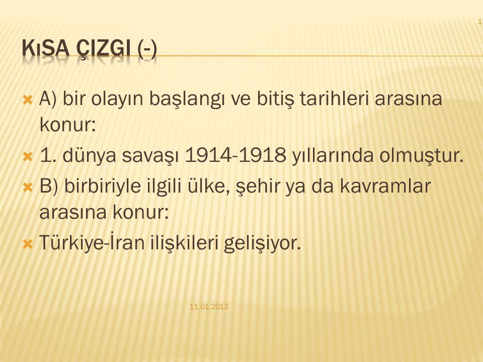 c) Bir kişiden söz edilirken doğum ve ölüm tarihleri parantez içinde yazılır: Yakup Kadri Karaosmanoğlu (1889-1974) teknik yönden kusursuz romanlar ya