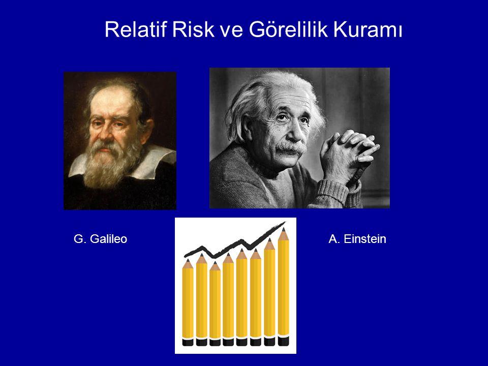 Relatif Risk ve Görelilik Kuramı G. GalileoA. Einstein