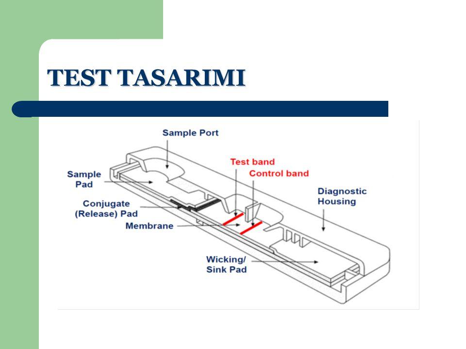 ÖRNEK TOPLAMA VE HAZIRLAMA Test gaita örneği ile kullanılır.