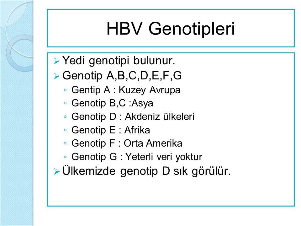 HBV Serolojik Tablo HBs Ag Hbe Ag Anti HBe AntiHBc IgM Anti HBc Anti HBs YORUM ------ HBV ile karşılaşmamış.