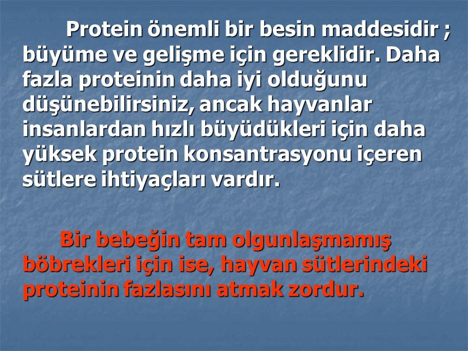 Protein önemli bir besin maddesidir ; büyüme ve gelişme için gereklidir. Daha fazla proteinin daha iyi olduğunu düşünebilirsiniz, ancak hayvanlar insa