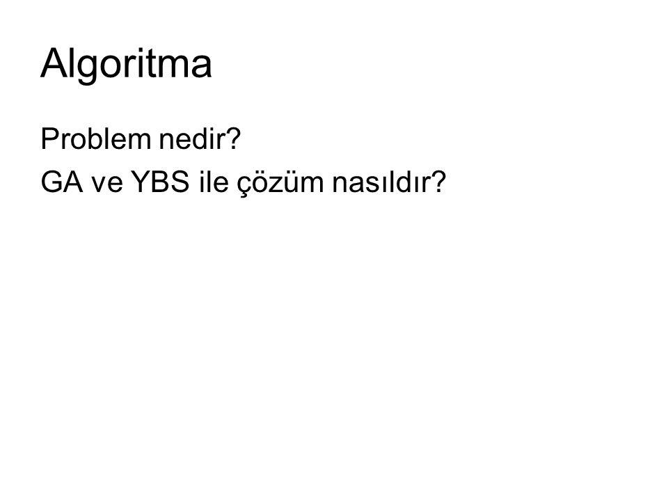 Algoritma Problem nedir? GA ve YBS ile çözüm nasıldır?