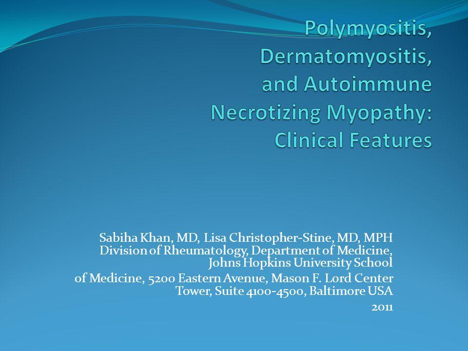 GİRİŞ İdiopatik inflamatuar myopatiler (IIMs) çoğunlukla iskelet kasına etki eden, kaslarda inflamasyon ve güçsüzlük ile sonuçlanan otoimun bozuklukların heterojen bir grubudur.