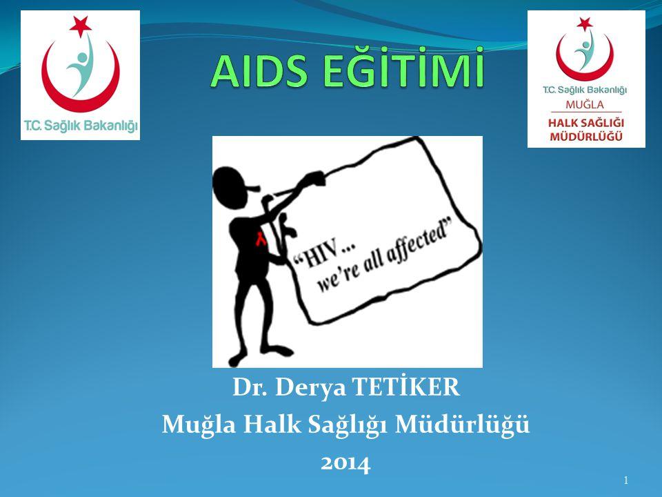 Dr. Derya TETİKER Muğla Halk Sağlığı Müdürlüğü 2014 1