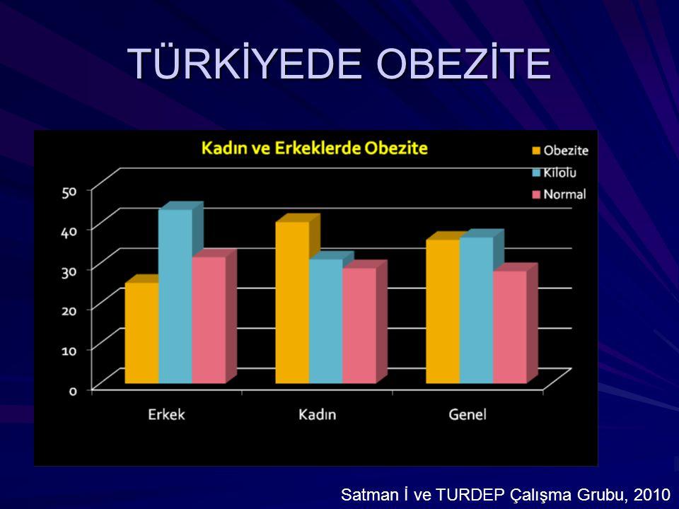 TÜRKİYEDE OBEZİTE Satman İ ve TURDEP Çalışma Grubu, 2010