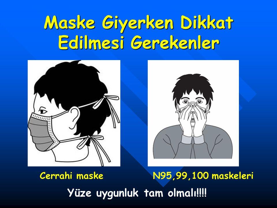 Maske Giyerken Dikkat Edilmesi Gerekenler Cerrahi maskeN95,99,100 maskeleri Yüze uygunluk tam olmalı!!!!