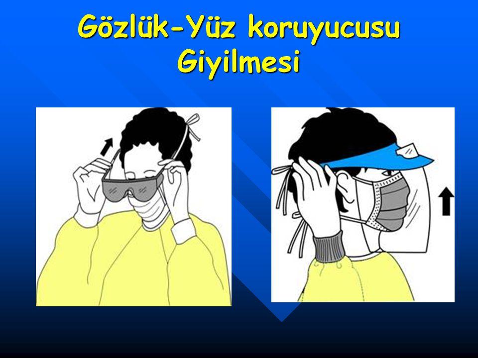 Gözlük-Yüz koruyucusu Giyilmesi