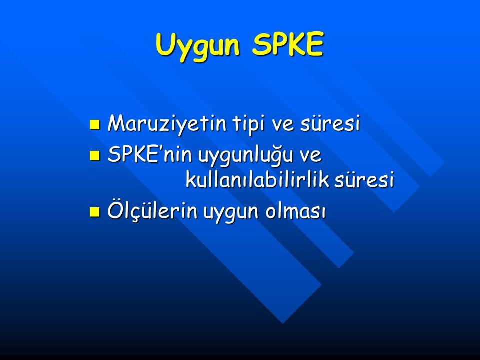 Uygun SPKE Maruziyetin tipi ve süresi Maruziyetin tipi ve süresi SPKE'nin uygunluğu ve kullanılabilirlik süresi SPKE'nin uygunluğu ve kullanılabilirli
