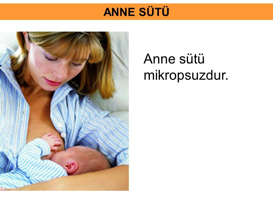 Anne sütü mikropsuzdur.