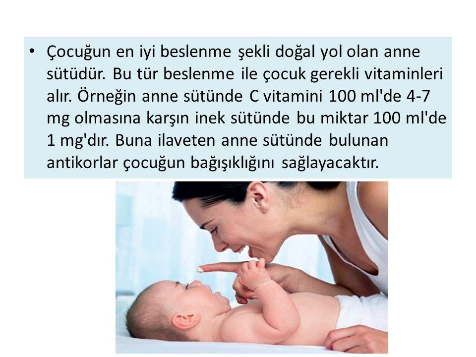 Çocuğun en iyi beslenme şekli doğal yol olan anne sütüdür.