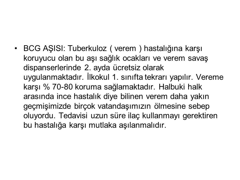 KIZAMIK-KIZAMIKÇIK-KABAKULAK AŞISI 15.