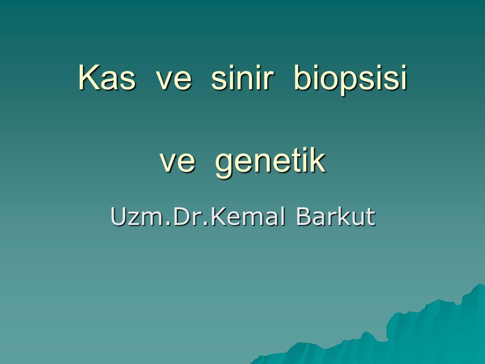 Kas ve sinir biopsisi ve genetik Uzm.Dr.Kemal Barkut