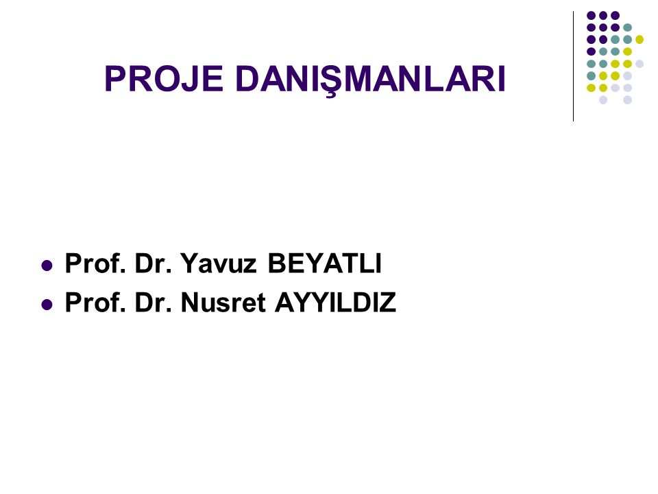PROJENİN AMACI 21.