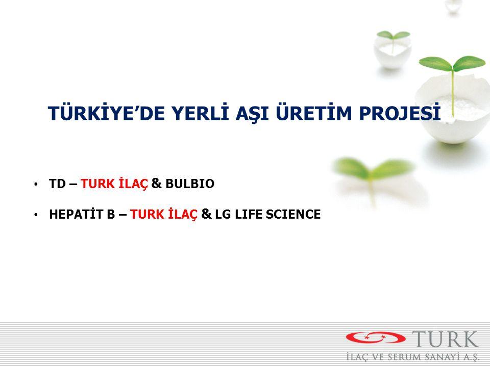TÜRKİYE'DE YERLİ AŞI ÜRETİM PROJESİ TD – TURK İLAÇ & BULBIO HEPATİT B – TURK İLAÇ & LG LIFE SCIENCE