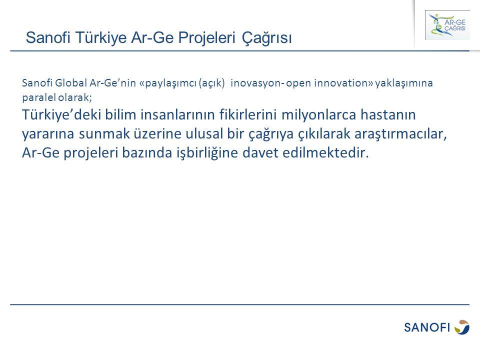 Sanofi Global Ar-Ge'nin «paylaşımcı (açık) inovasyon- open innovation» yaklaşımına paralel olarak; Türkiye'deki bilim insanlarının fikirlerini milyonl