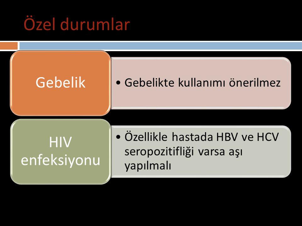 Özel durumlar Hepatit A aşısı