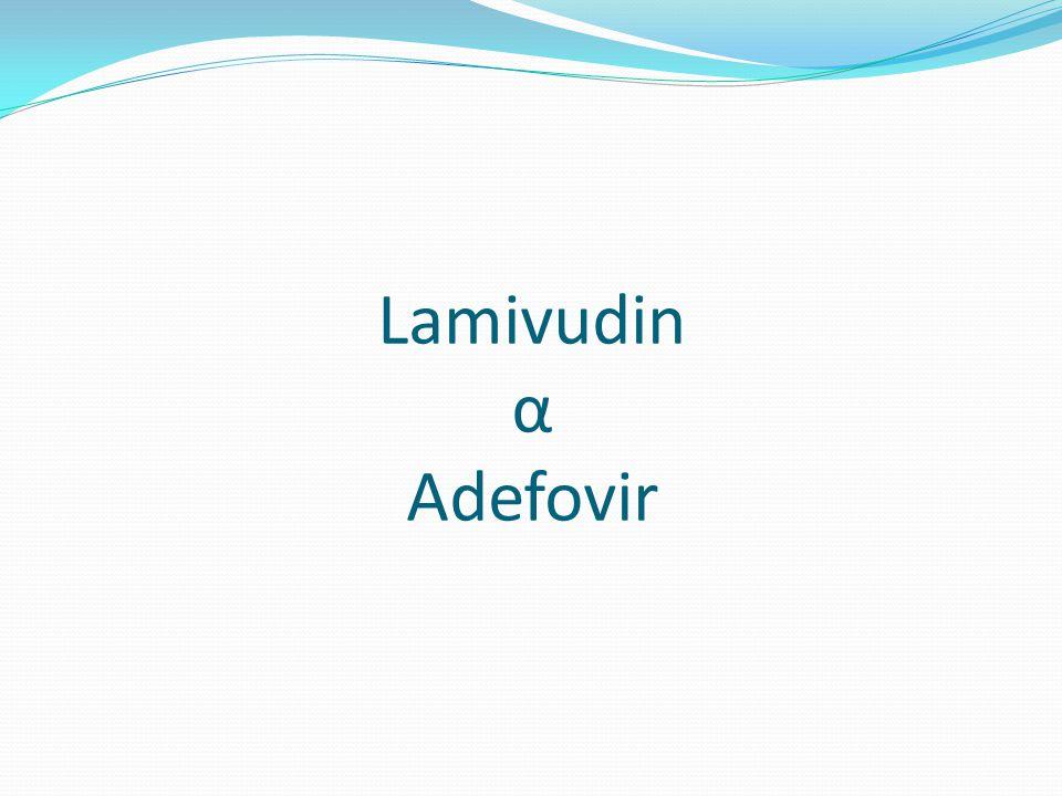 Gebelik - HBV Tenofovir ve telbivudin gebelik kategori B Lamivudin, adefovir ve entekavir kategorisi C En çok veri Lamivudin'de (HIV) Entekavir ile ilgili gebelerde deneyim yoktur Viral yükü yüksek (serum HBV DNA >10 6–7 IU/ml) gebe kadınlarda perinatal bulaşı engel olmak için gebeliğin son trimestirinde telbivudin, tenofovir kullanımı planlanabilir