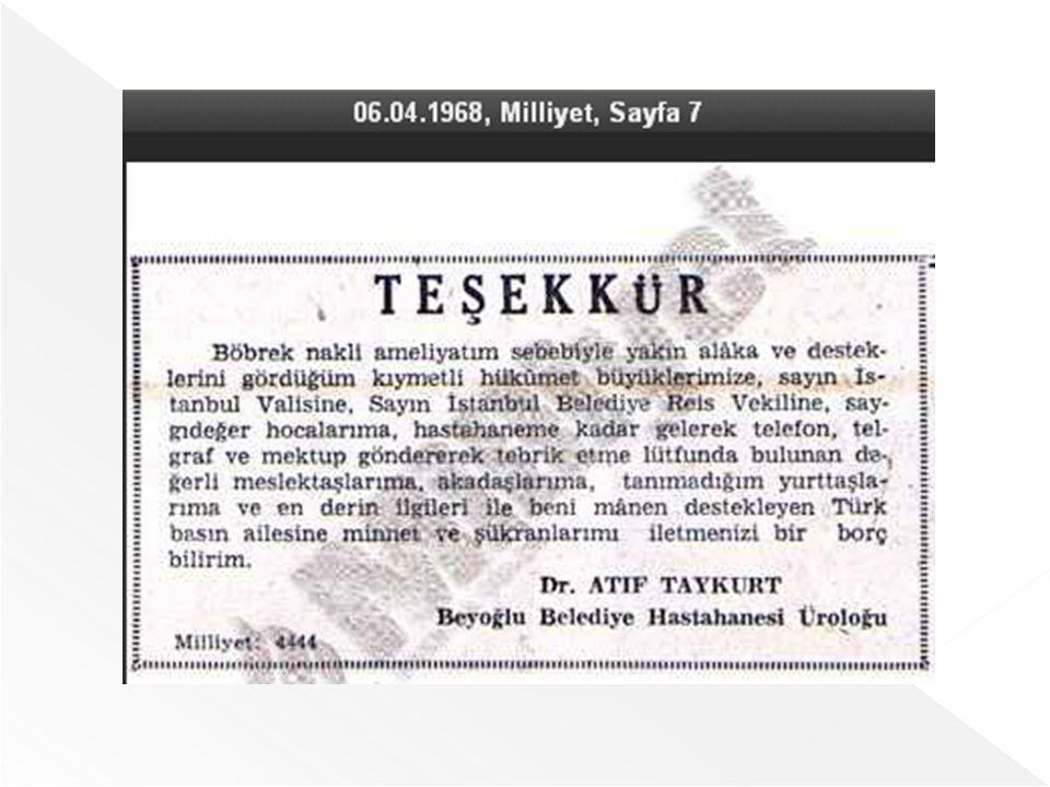 Türk Nefroloji Derneği Böbrek Kayıt Sistemi Verileri