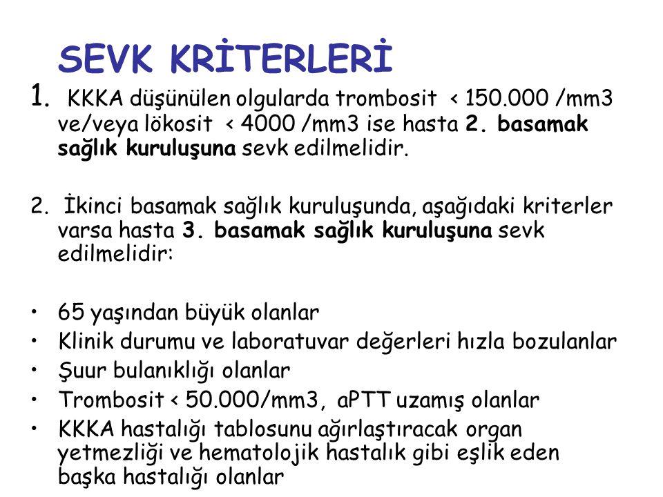 SEVK KRİTERLERİ 1.