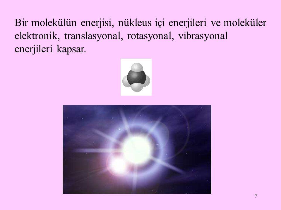 28 Termodinamiğin birinci kanunu Bir sistemin enerjisinde herhangi bir de ğ i ş iklik çevrede e ş it ve zıt bir de ğ i ş ikli ğ i gerektirir.
