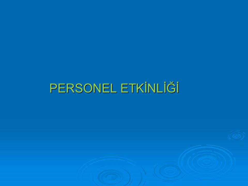 PERSONEL ETKİNLİĞİ PERSONEL ETKİNLİĞİ