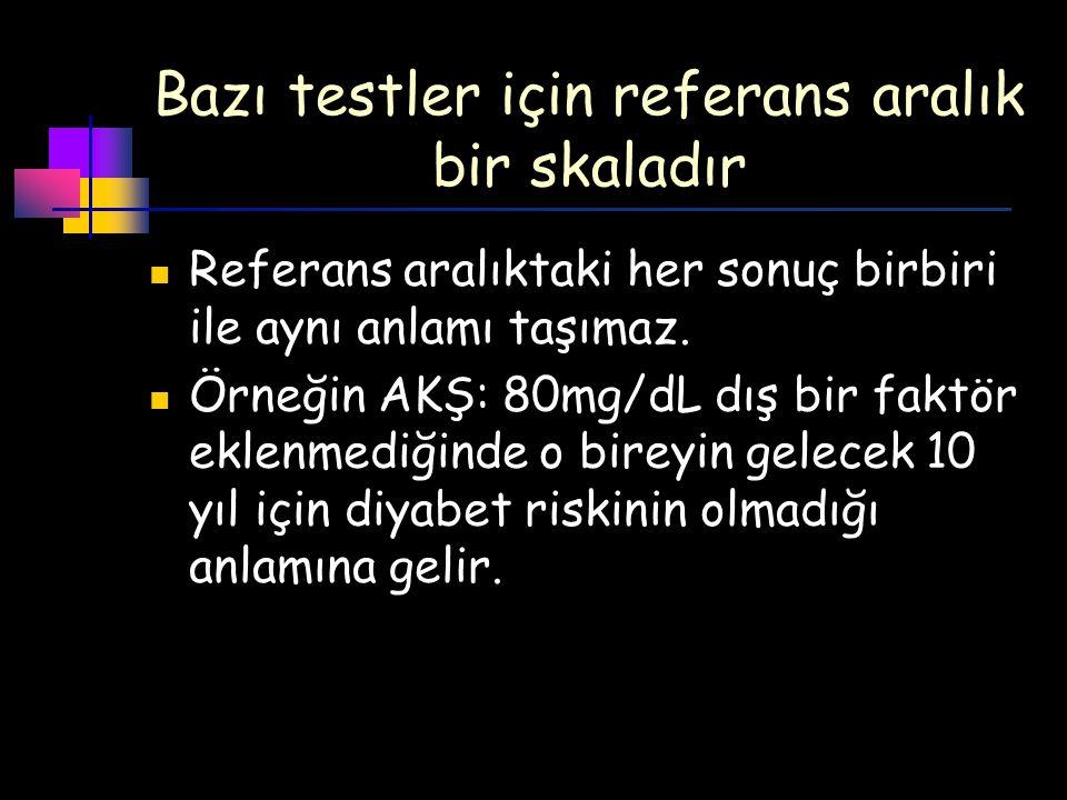 İki tanı kriterinin sonucu çelişkili olduğunda… Yüksek olan test tekrarlanır Tekrar sonucuna göre karar verilir.