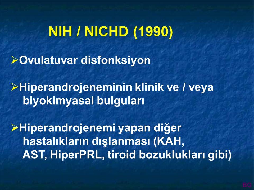 Normo- insülinemik hastalar Hiper- insülinemik hastalar Hasta sayısı 1420 111463 Obes Zayıf BMI P<0.05 23.2+4.127.8+5.3 SHBG P<0.001 48.47+29.323.29+8.2 FAI (Tx100)/SHBG P<0.005 4.12+1.911.39+5.4 Fulghesu et al.