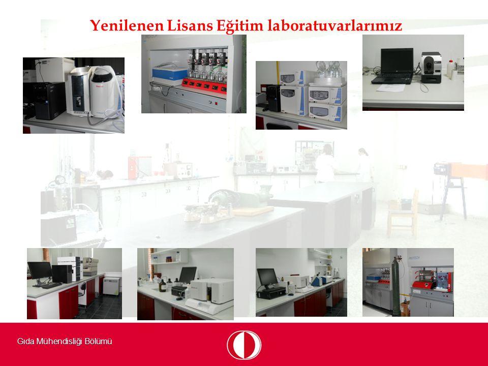 Gıda Mühendisliği Bölümü Yenilenen Lisans Eğitim laboratuvarlarımız