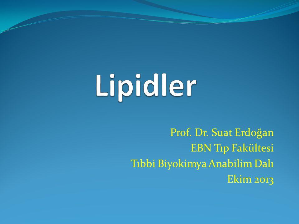 Prof. Dr. Suat Erdoğan EBN Tıp Fakültesi Tıbbi Biyokimya Anabilim Dalı Ekim 2013