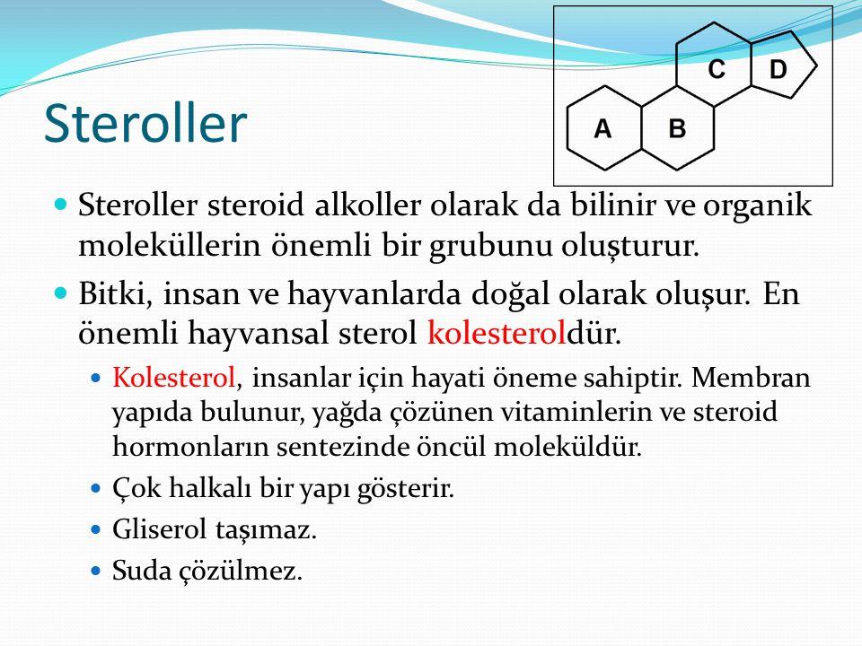 Steroller Steroller steroid alkoller olarak da bilinir ve organik moleküllerin önemli bir grubunu oluşturur.